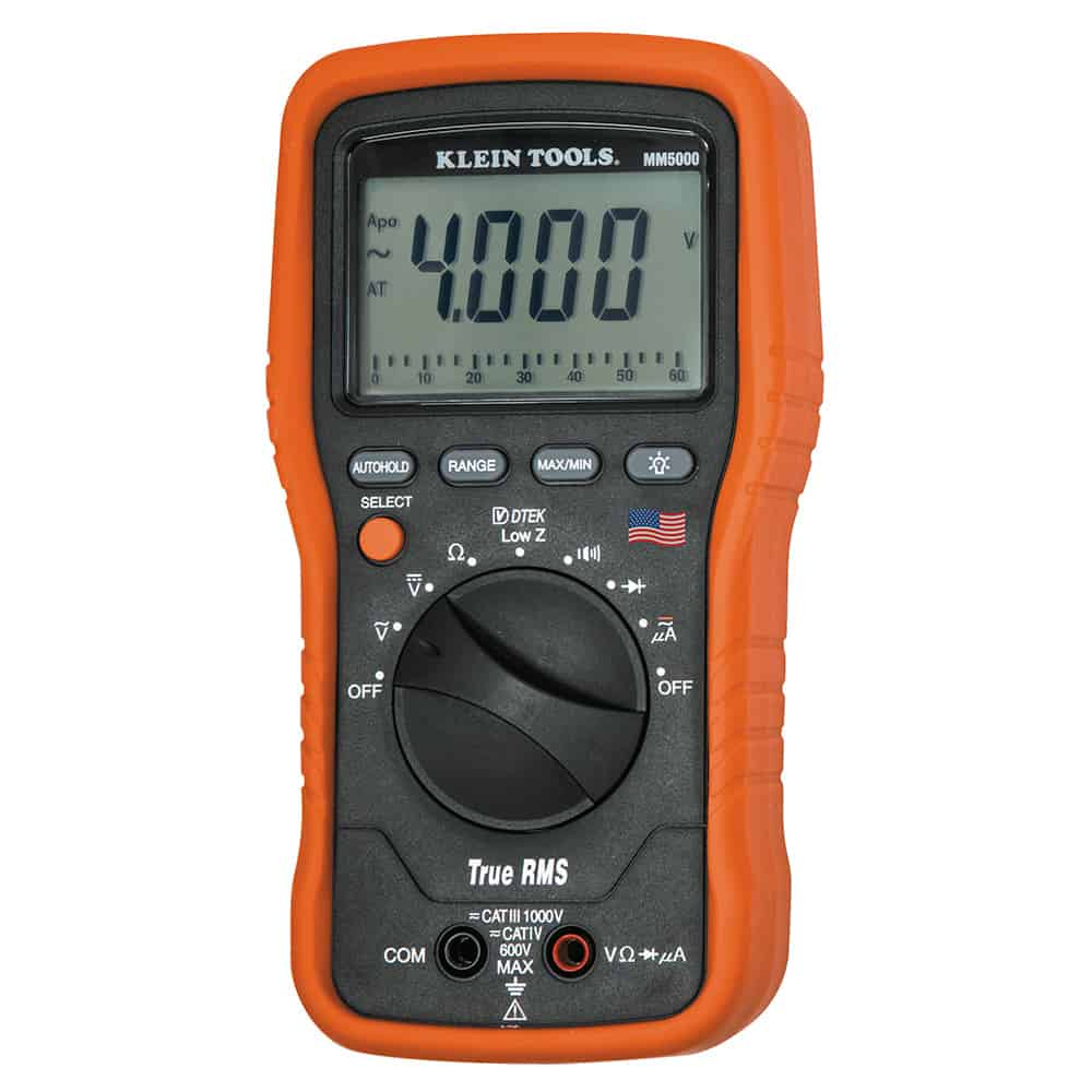 Klein Tools MM5000 Electricians TRMS Multimeter