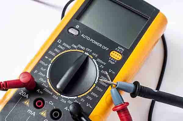 The symbols on an electrical multimeter